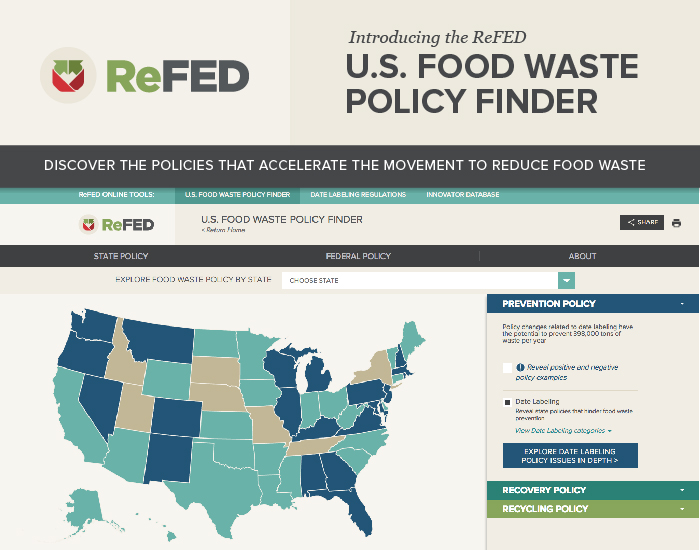 U.S. Food Waste Policy Finder